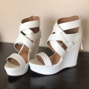 Classy white wedges
